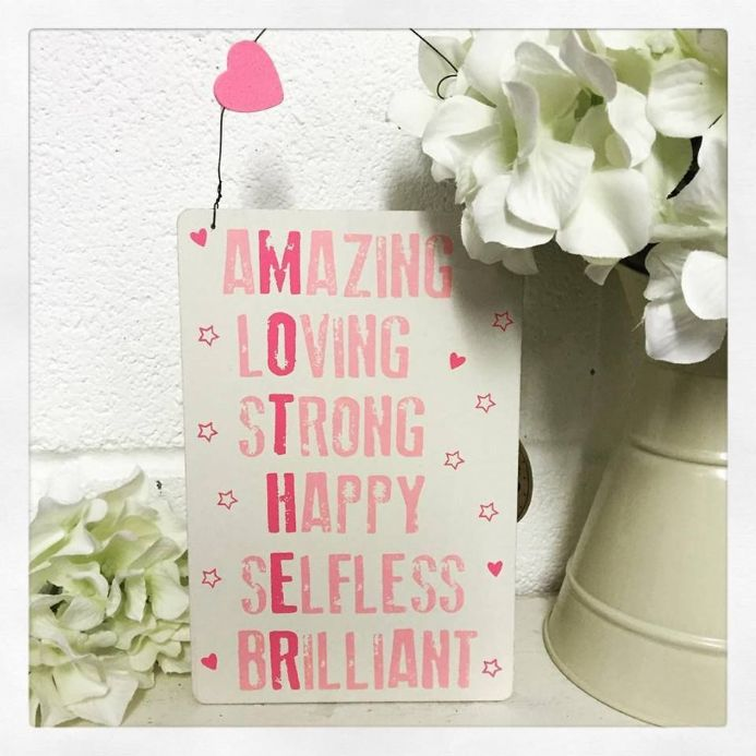 50% off Small Pink & White Hanging Mother Sign